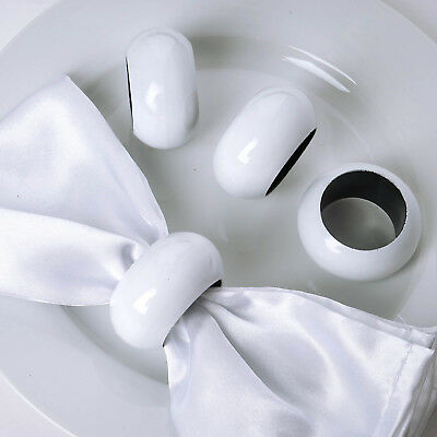 12 pcs White NAPKIN RINGS Wedding Catering Party Banquet Dinner Decorations