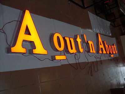 Customized! LED Front Light Channel Letters Signage Illuminated Signboard Sign