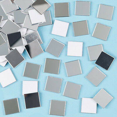 Mosaic Self-Adhesive Mirror Tiles for Kid's Craft Activities (Pack of 100)