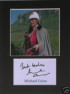 Michael Caine Zulu signed autograph mounted photo print display #1