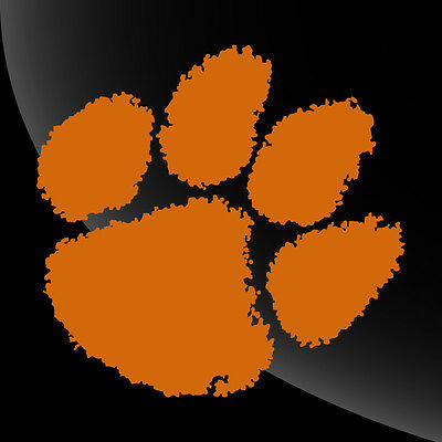 Clemson Tigers Paw Print Decal Sticker - BUY 2 GET 1 FREE*