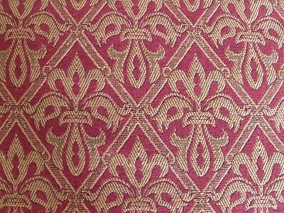 *Lee Jofa English Rayon Cotton Flax Fleur de Lys Indian Red Upholstery 5 to 20 y