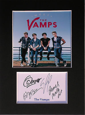 The Vamps signed autograph mounted photo print display #1