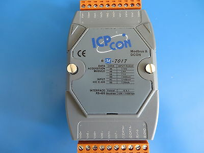 2 ICP CON M-7017 8 Ch. Voltage/Current Analog Input DAQ Modules  - Modbus/RS-485