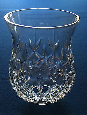 """5-3/4"""" Tall Cut Lead Crystal Candle Holder/Lamp Replacement Globe, 2-1/8"""" Fitter"""