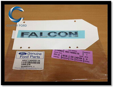 "Genuine Ford Falcon BA/BF/FG/FGX ""FALCON"" Badge / Nameplate. Chrome NEW."