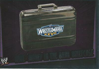 WWE Topps Slam Attax Rumble Trading Card Foil Title Card Money In The Bank