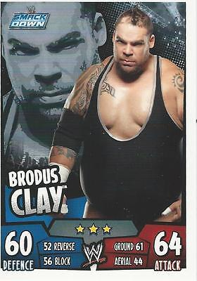 WWE Topps Slam Attax Rumble Trading Card Brodus Clay