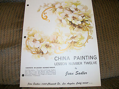 1963 China Painting Patterns Design Study Lesson #12 by Jean Sadler L@@K