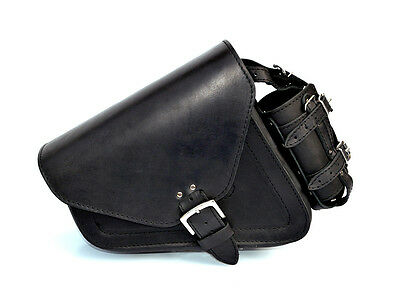 Harley-Davidson Sportster Top Leather Black Single Sided Left Pannier Saddle Bag