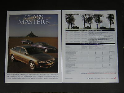 Vauxhall Vectra Special Feature Advert 1997 - 12 pages