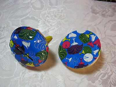 1950's  60's Vintage Party Noise Maker  New Years Clock Bells set of 2