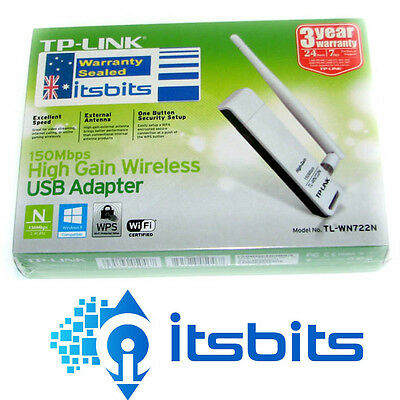 Tp-Link Tl-Wn722N V2 Wireless N High Gain 150M Usb Adaptor Removable Aerial