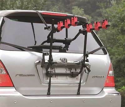 3 BICYCLE UNIVERSAL CARRIER CAR RACK BIKE CYCLE FITS MOST CARS REAR MOUNT