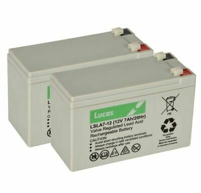 Aquasoothe Travelite Mobility, Wheelchair replacement Batteries  x 2 Lucas