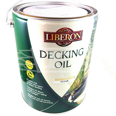 LIBERON CLEAR DECKING OIL 2 x 5 LITRE CANS CLEAR, 2 x 5L 10 LTR