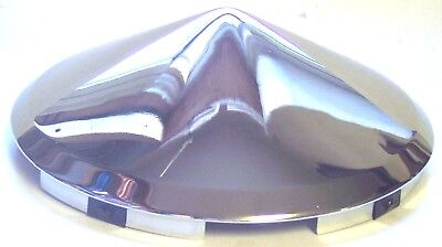 hub caps(2) front 6 uneven notch pointed cone for Kenworth Peterbilt steel wheel