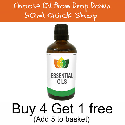 50ml Essential Oil - 100% Pure & Natural - Choose Fragrance - Aromatherapy MNG