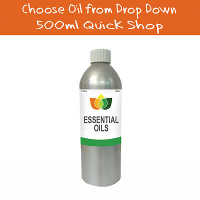 500ml Essential Oil Pure & Natural Aromatherapy - Choose from 60 Oils