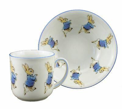 Peter Rabbit - 2pc Porcelain Dining Set - Mug & Cereal Bowl - Reutter Porzellan