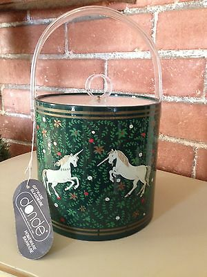 New with Tag Vintage Donde Design's Inc. N.Y. Unicorn Couple Ice Bucket