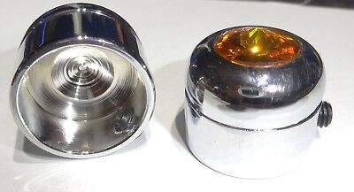"Screw head covers(2) Amber jewel for 9/16"" head screw Peterbilt Kenworth Freight"