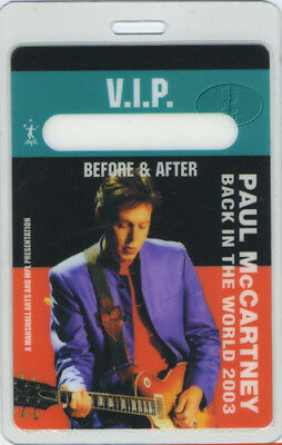 PAUL McCARTNEY 2003 LAMINATED BACKSTAGE PASS VIP