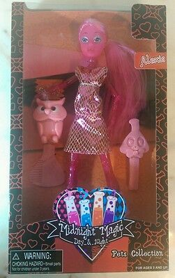 Midnight magic doll day and night Alexis with pet. New in box