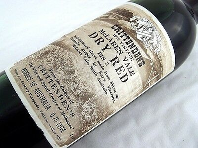 1970 CRITTENDENS Bin 3 Dry Red Shiraz Grenache G Isle of Wine
