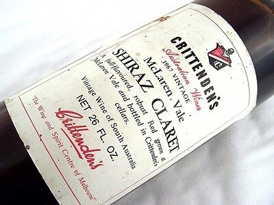 1967 CRITTENDENS Shiraz Claret E Isle of Wine