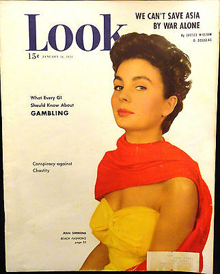 LOOK Magazine January 16 1951 JEAN SIMMONS Cover Betty Grable Television Awards