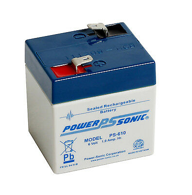 6V 1AH POWERSONIC PS610 Rechargeable Battery for UPS, toy car