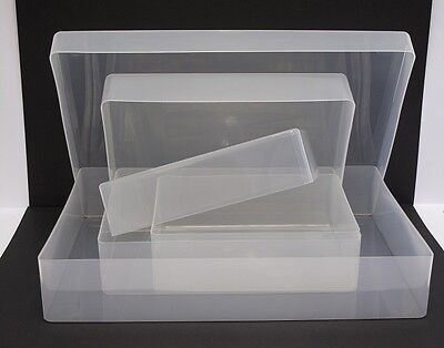 Set of 3 Loose Lid Clear Plastic Storage Boxes 30cm, 21.5cm & 17cm AM448