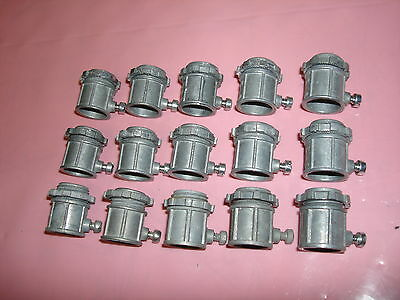 "Lot of 15 - Regal TG-221 1/2"" Set Screw PVC Pipe Fitting Connector - New"