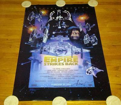 Star Wars Empire Strikes Back Spec Ed '97 One Sheet Movie Poster SIGNED Struzan