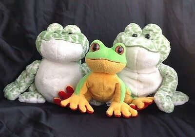 Ganz Frog Lot of 3~ 2 Spotted Webkinz &1 Lil Kinz Tree Frog ~ H142 &  HS109