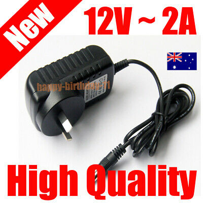 12V 2A 24W AC/DC Adapter Charger Power Supply Free Female Connector