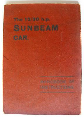 SUNBEAM 12/30 HP - Car Handbook - May 1924 - #272