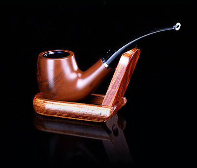 Stylish Wooden Tobacco Pipe + Smoking Pipe Stand + Cigar Cigarette Smoking Pipe