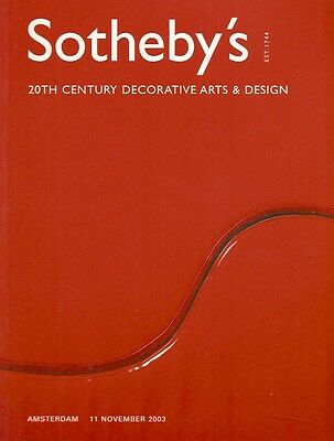 Sotheby's 20th Century Decorative Arts & Design Amsterdam Auction Catalog 2003