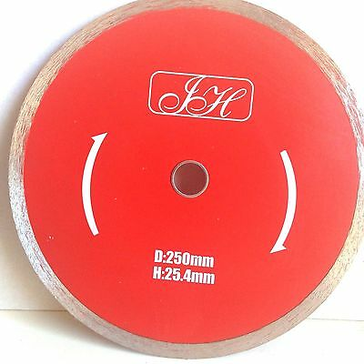 "10"" (250mm) Continuous Diamond Cutting Disc. Wet saw Blade continuous"