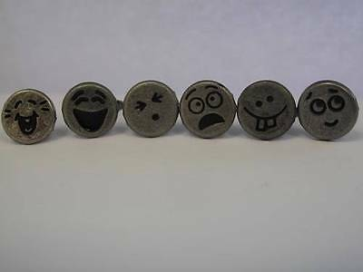 1 x 15 pc pk Brads/Paper Fasteners 11 Design Faces to choose from Cardmaking