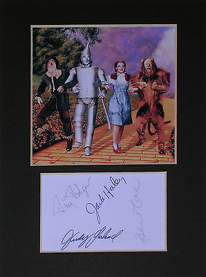 Wizard of Oz signed autograph mounted photo print display #1