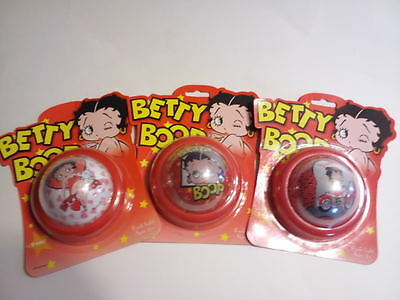 "Betty Boop 3pc 4"" Push Light Hearts Face Motorcycle Tap Light New FREE SHIPPING"