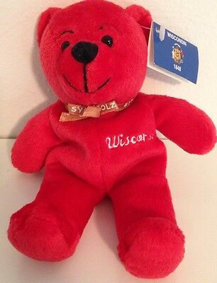 Red 2000 Symbolz The State Pride Bear Wisconsin