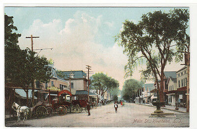Main Street Riverhead Long Island New York 1910c postcard