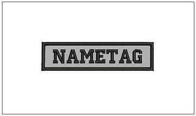 "REFLECTIVE NAME TAG Custom Embroidered 4"" x 1"" Sew-on Patch,  Biker BEST ON EBAY"