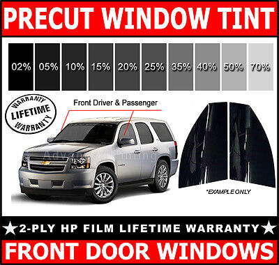 2ply HP PreCut Film Front Door Windows Any Tint VLT for Chevrolet SUV CHEVY