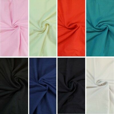 Plain Coloured Cotton Jersey Fabric Craft Material 160cm