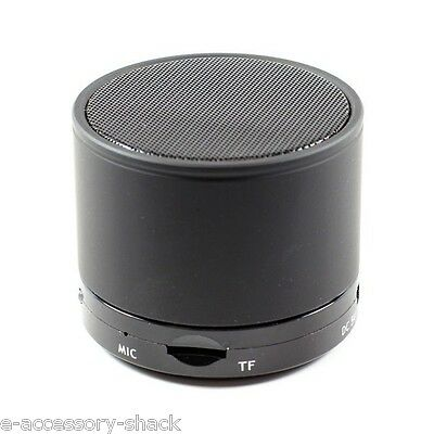 Black Portable Bluetooth (Wireless) Speaker For Apple+Android Phones/Tablets
